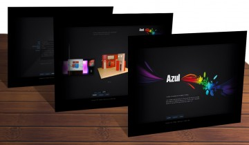 Layout site Azul Cenografia